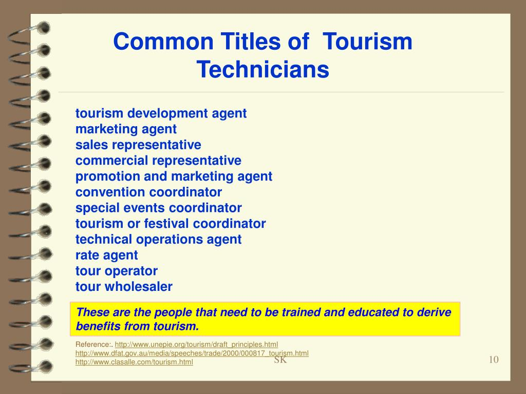 Common Titles of  Tourism