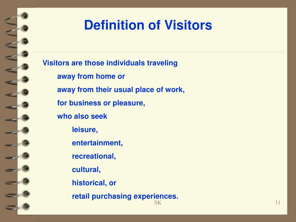 Definition of Visitors