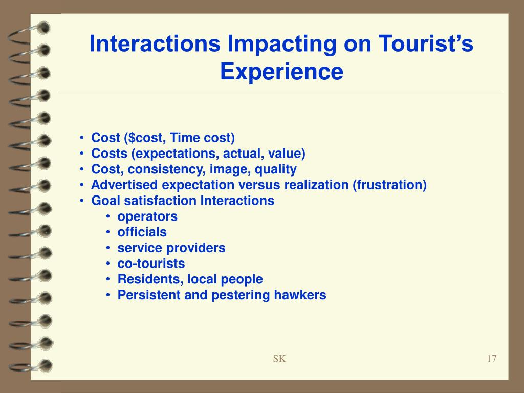 Interactions Impacting on Tourist's Experience