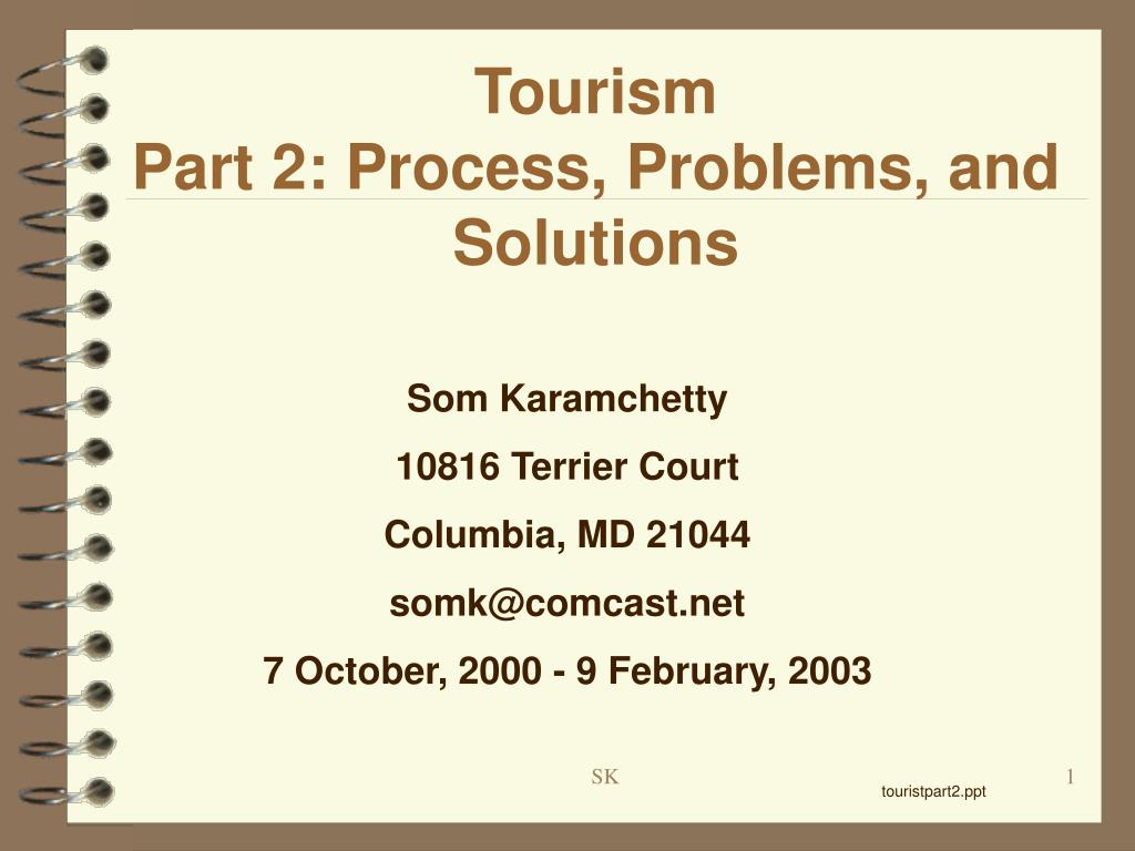 tourism part 2 process problems and solutions