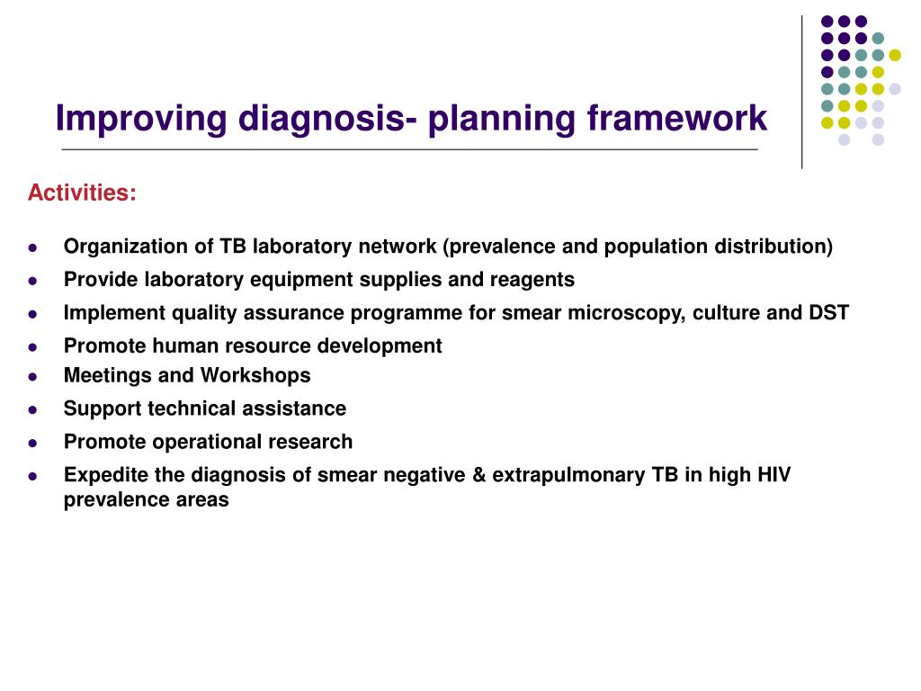 Improving diagnosis- planning framework