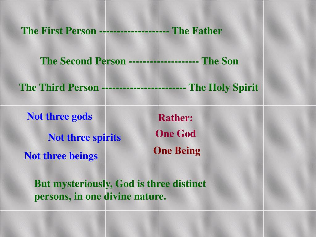 The First Person -------------------- The Father