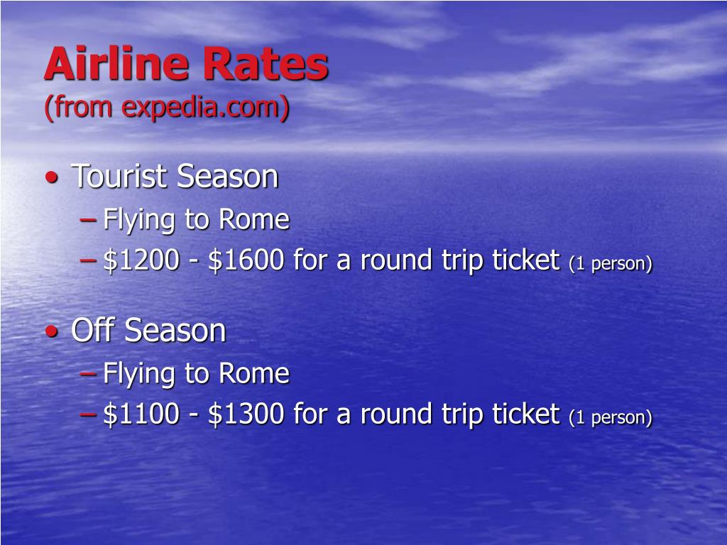 Airline Rates