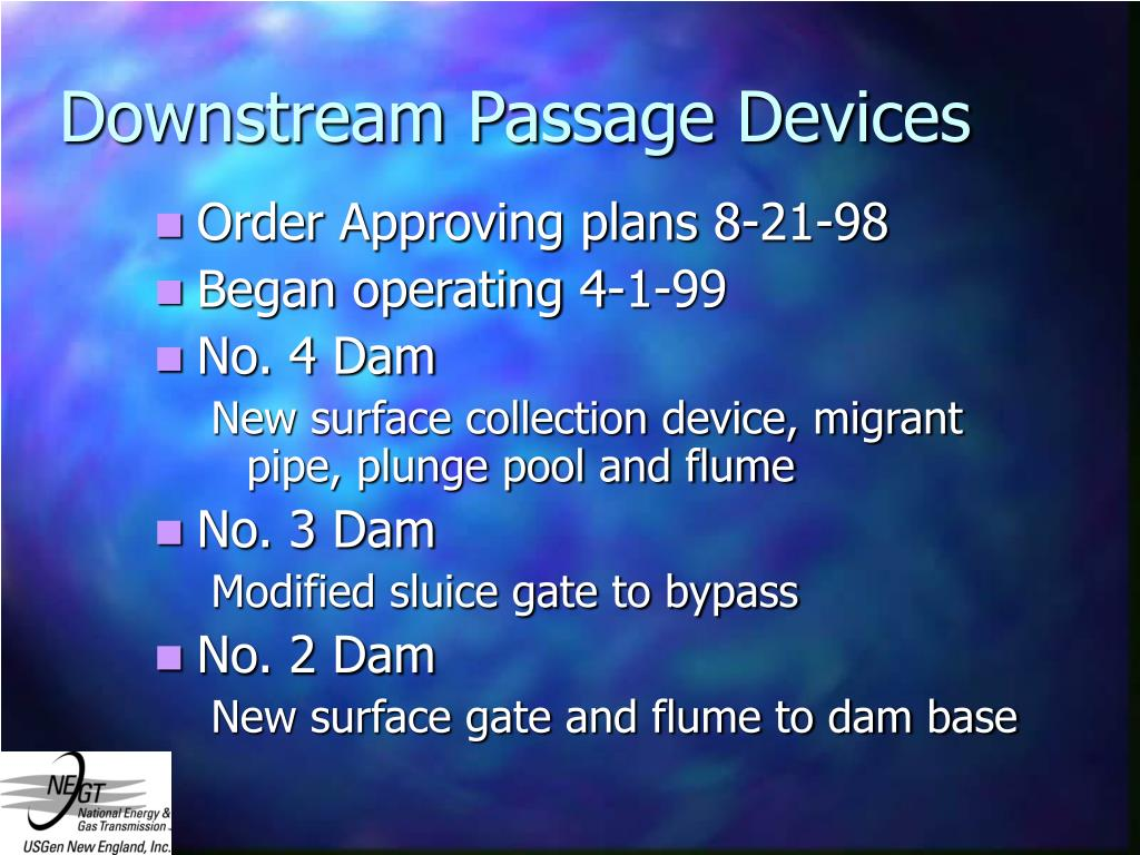 Downstream Passage Devices