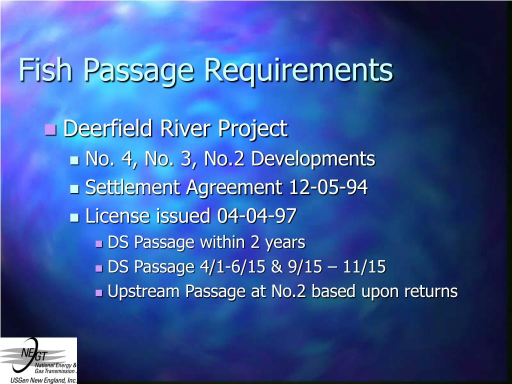 Fish Passage Requirements