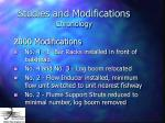 studies and modifications chronology15