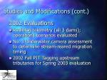 studies and modifications cont23