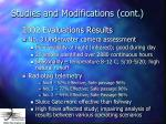 studies and modifications cont24