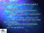 studies and modifications cont27