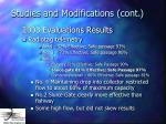 studies and modifications cont29