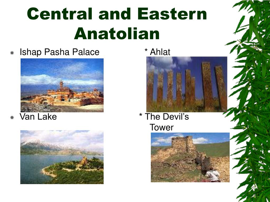 Central and Eastern Anatolian
