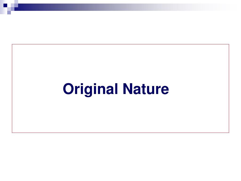 Original Nature