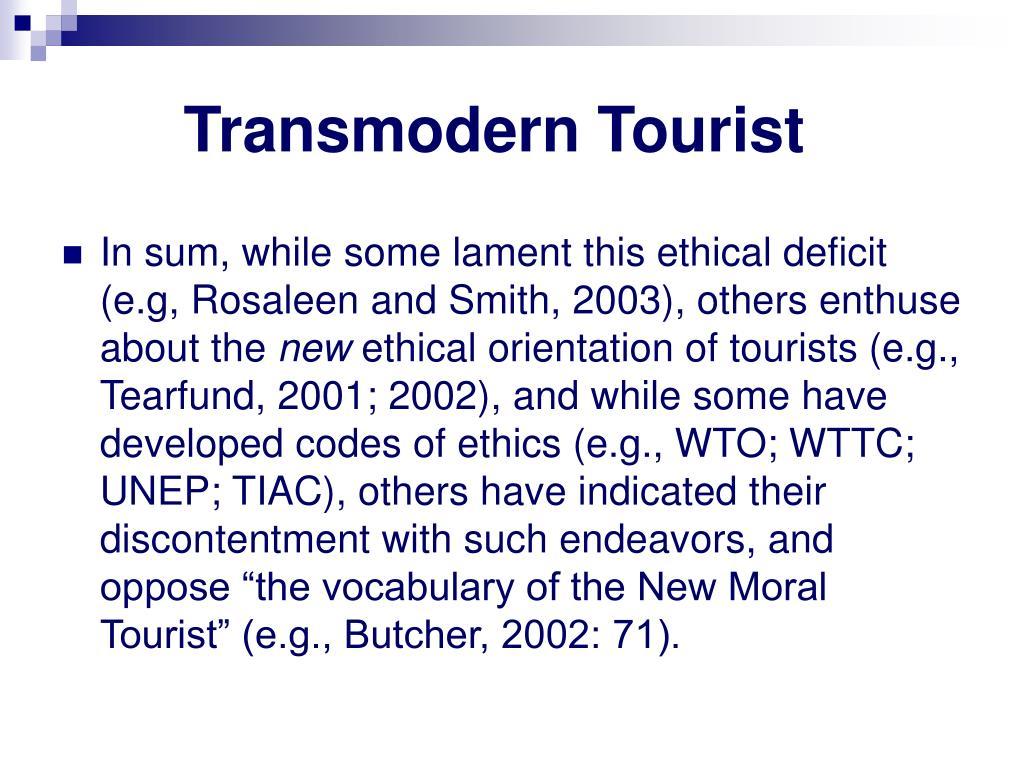 Transmodern Tourist
