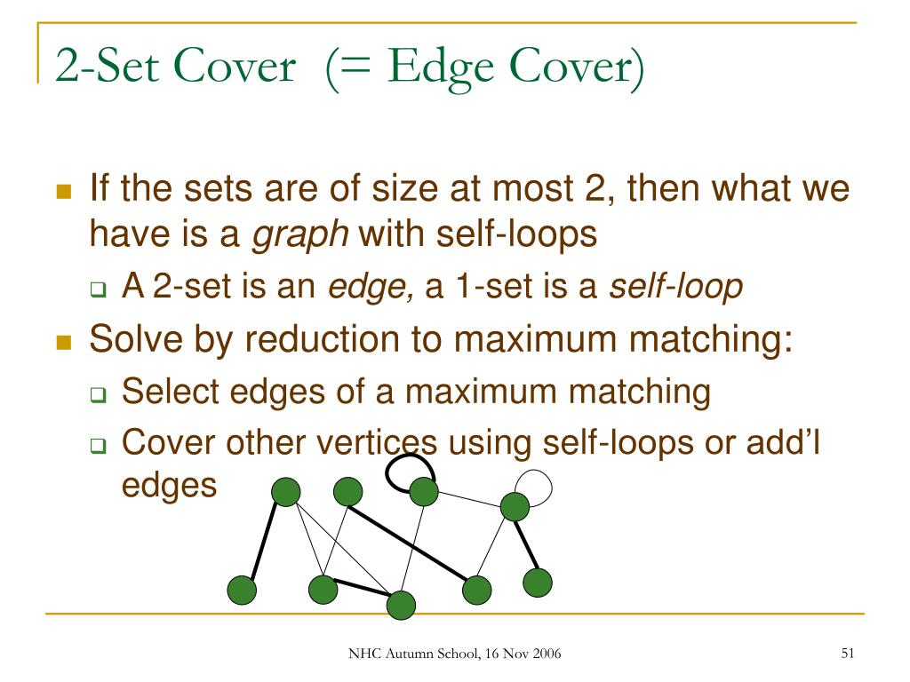 2-Set Cover  (= Edge Cover)