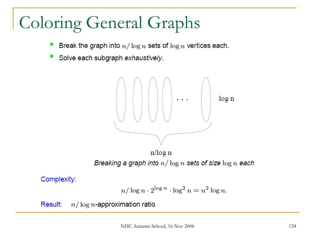 Coloring General Graphs