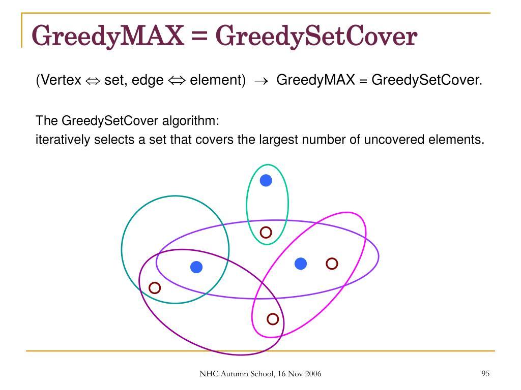 GreedyMAX = GreedySetCover