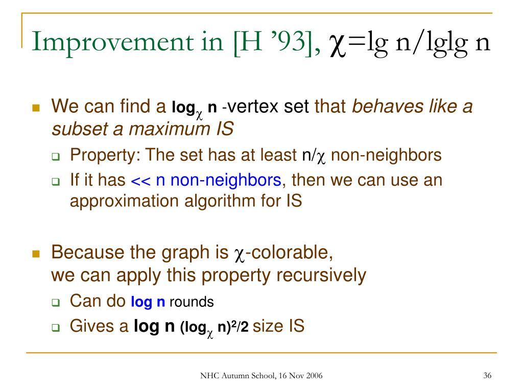 Improvement in [H '93],