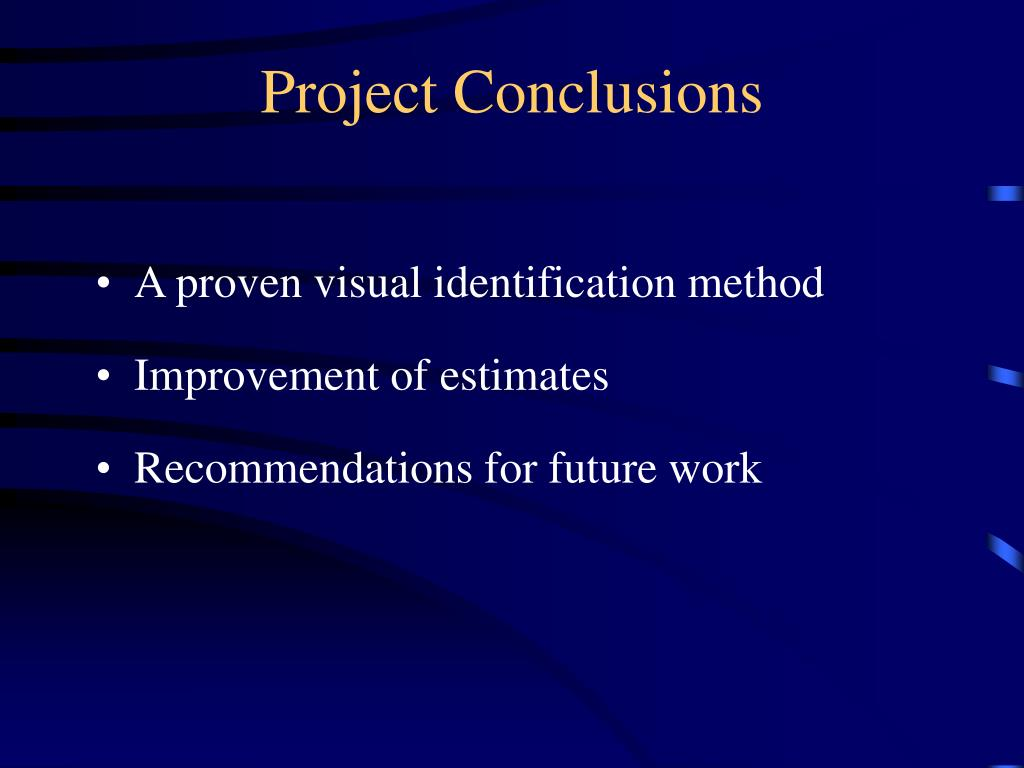 Project Conclusions