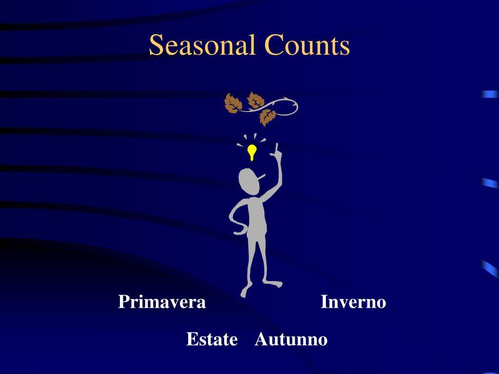 Seasonal Counts