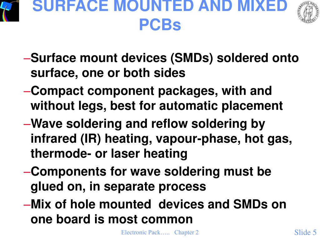 SURFACE MOUNTED AND MIXED PCBs