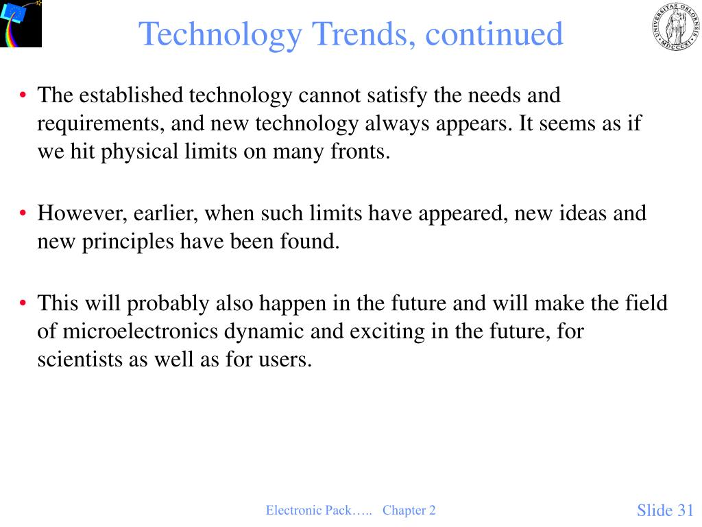 Technology Trends, continued