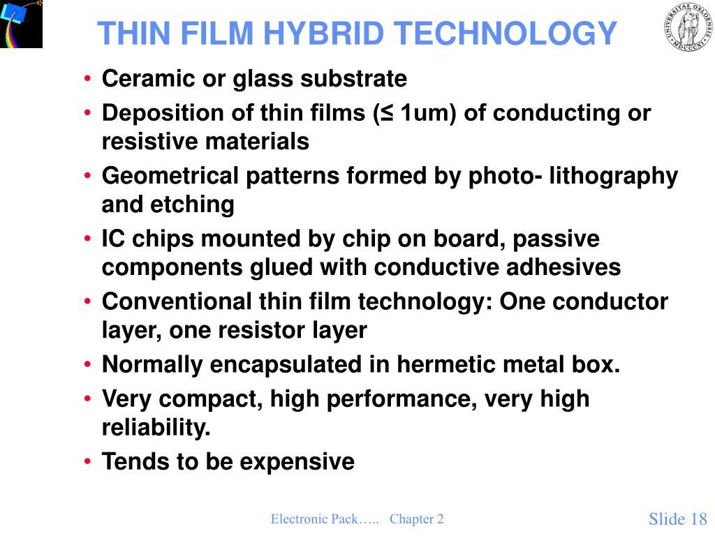 THIN FILM HYBRID TECHNOLOGY