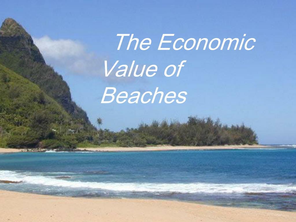 The Economic Value of Beaches