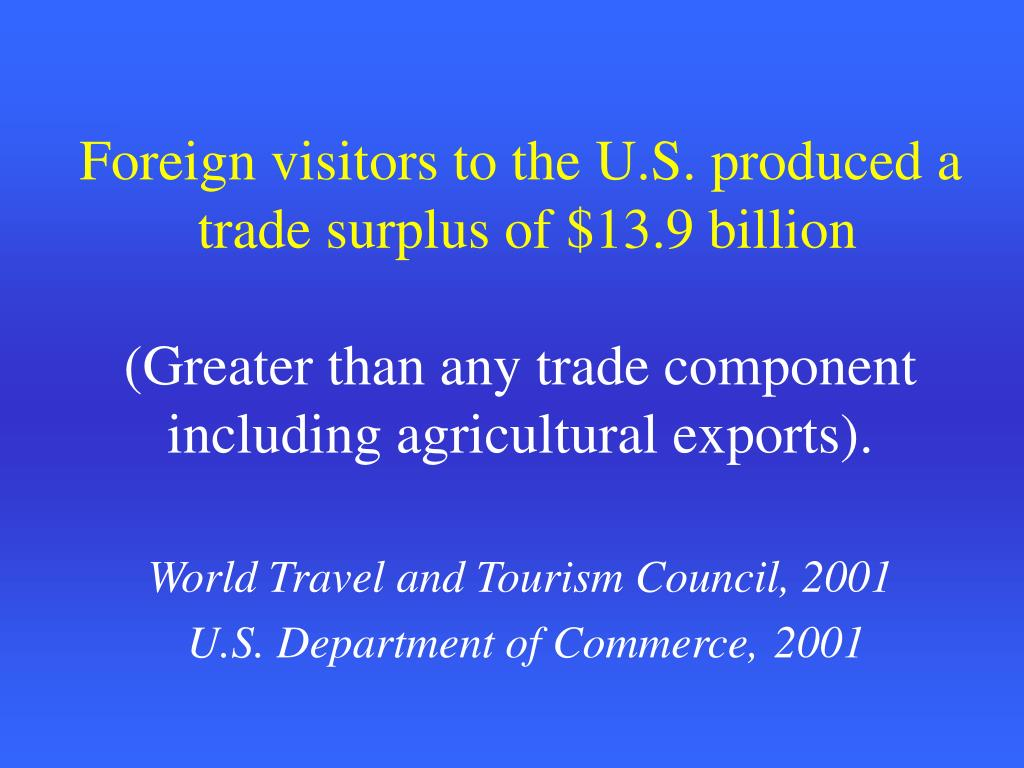Foreign visitors to the U.S. produced a
