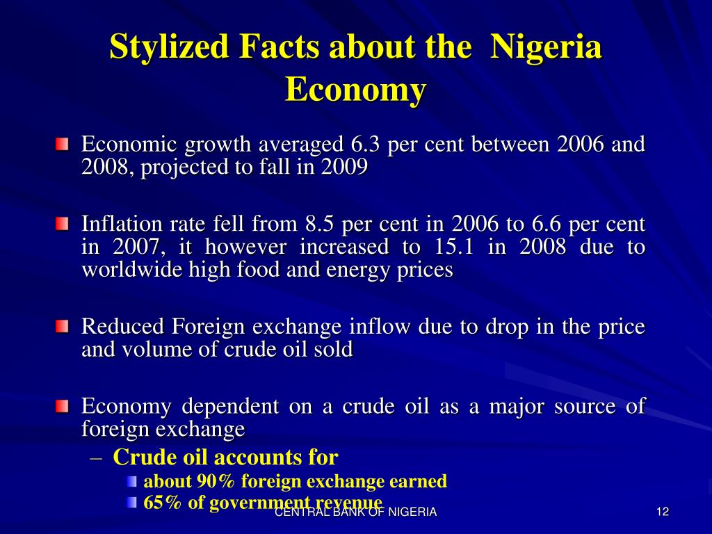 Stylized Facts about the  Nigeria Economy
