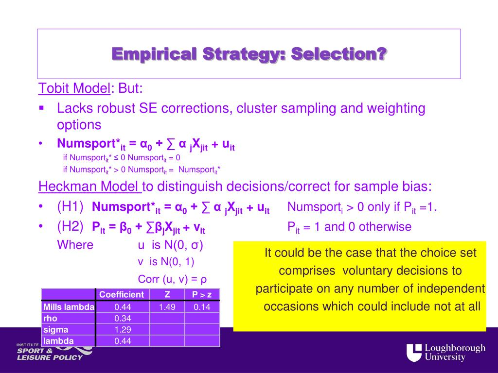 Empirical Strategy: Selection?
