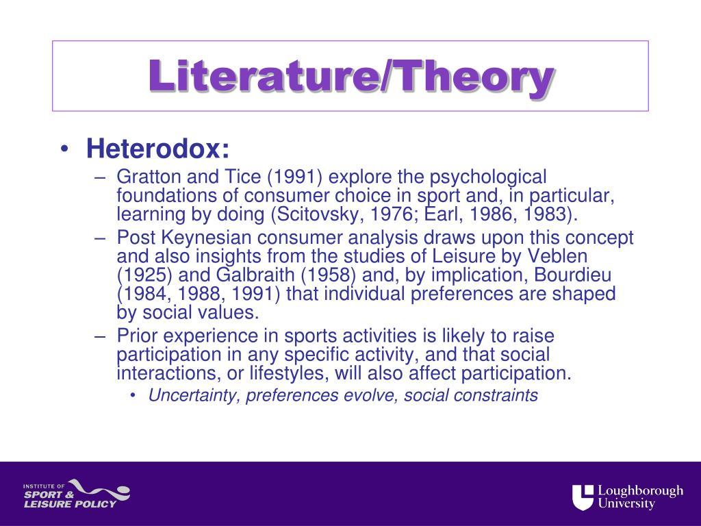 Literature/Theory