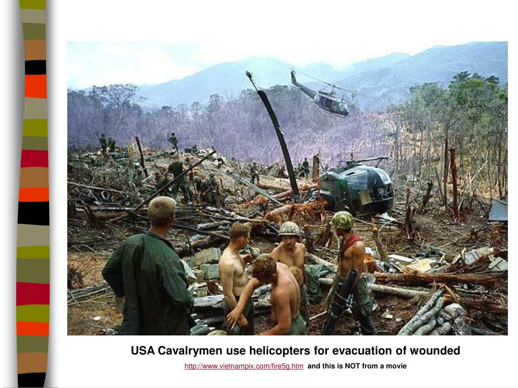 USA Cavalrymen use helicopters for evacuation of wounded