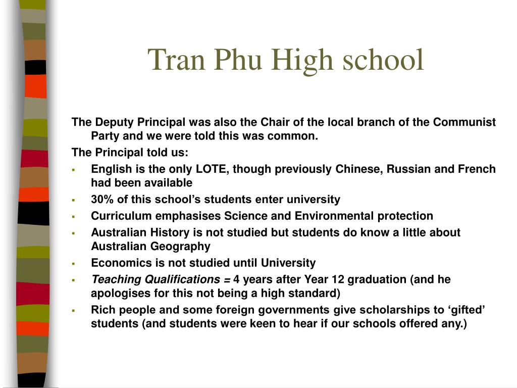 Tran Phu High school