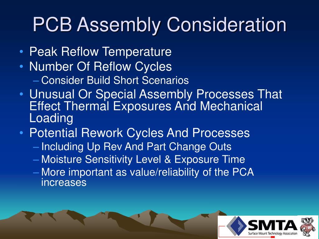 PCB Assembly Consideration