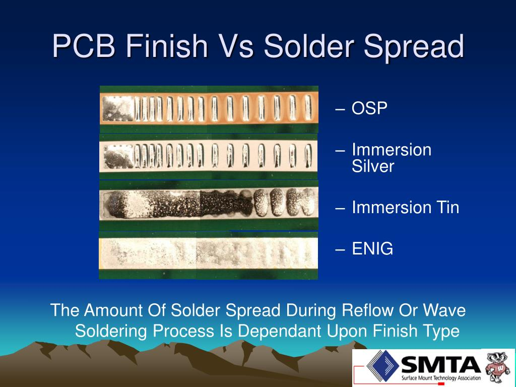 PCB Finish Vs Solder Spread
