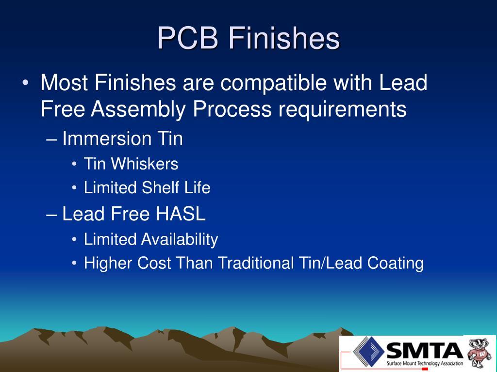 PCB Finishes
