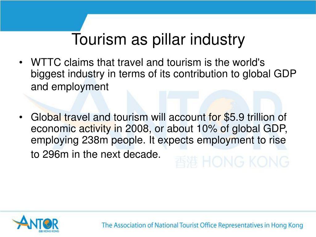 Tourism as pillar industry