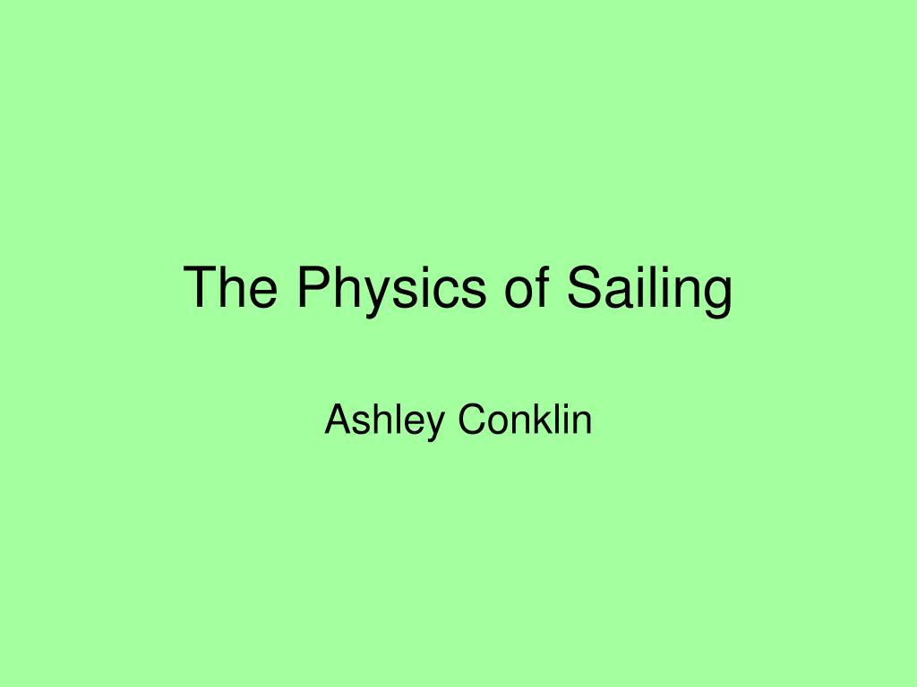 the physics of sailing
