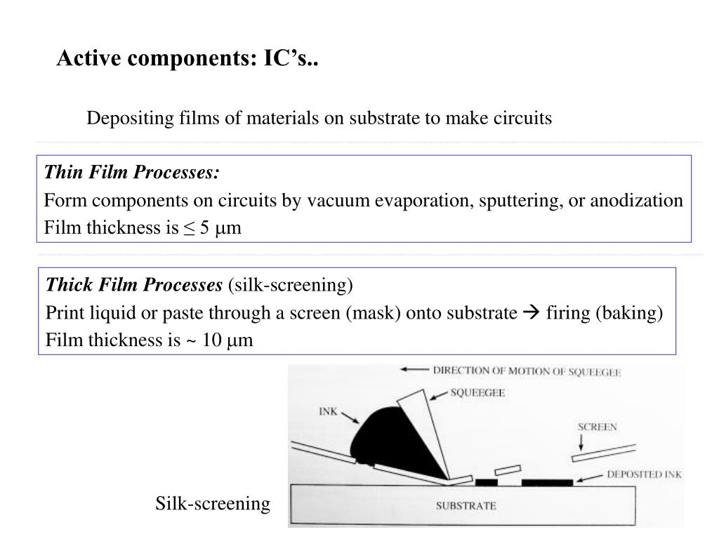 Active components: IC's..