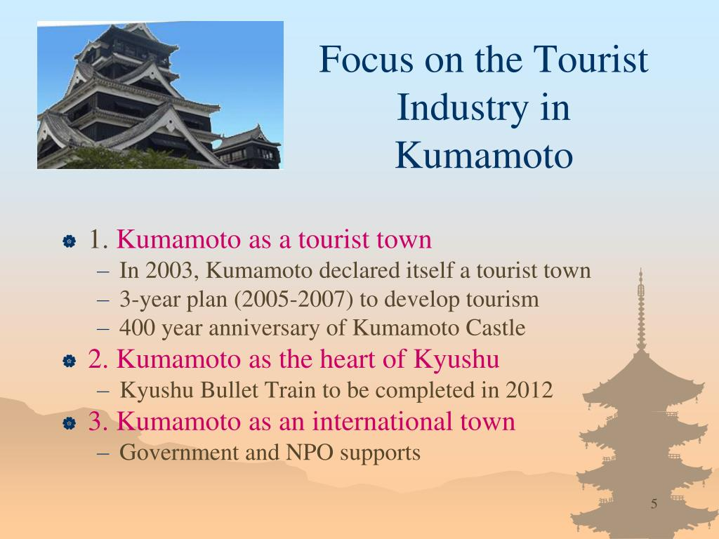 Focus on the Tourist  Industry in Kumamoto