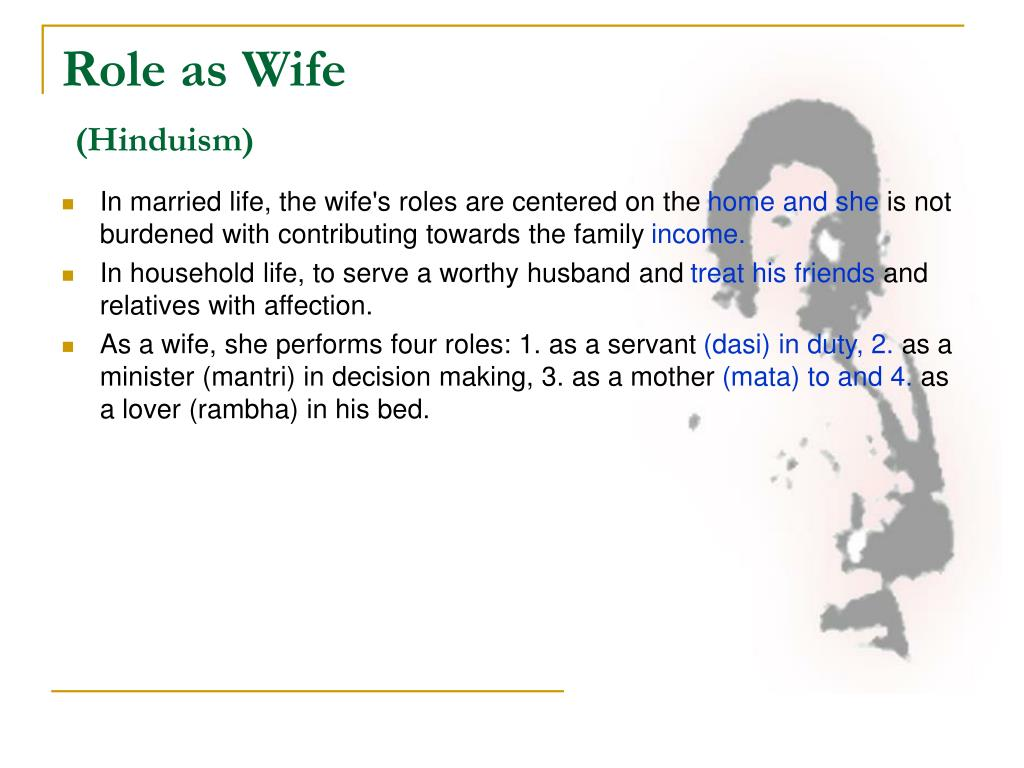 Role as Wife
