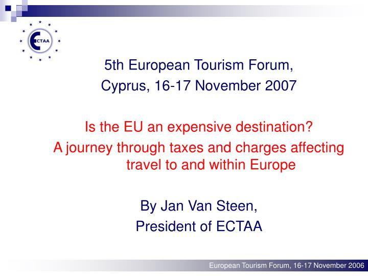 5th European Tourism Forum,