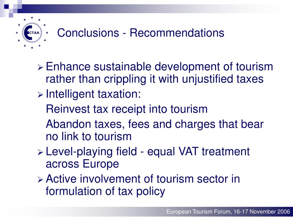 Conclusions - Recommendations