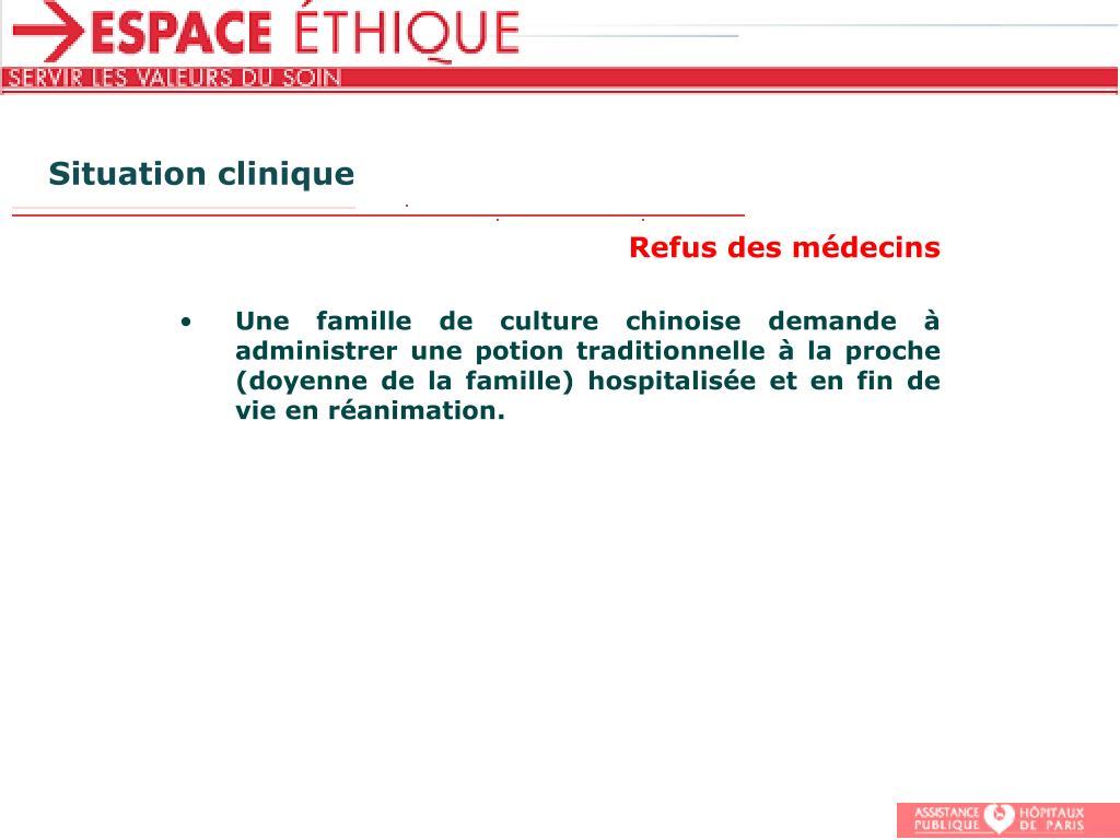 Situation clinique