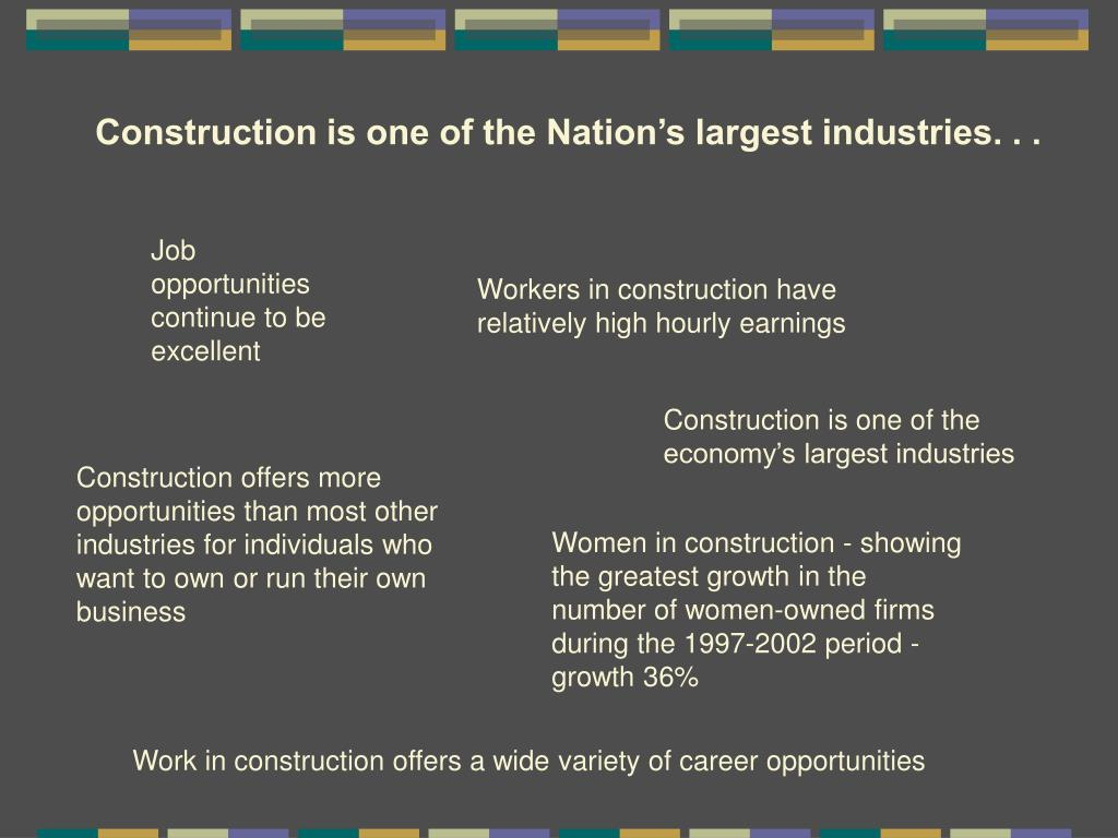 Construction is one of the Nation's largest industries. . .