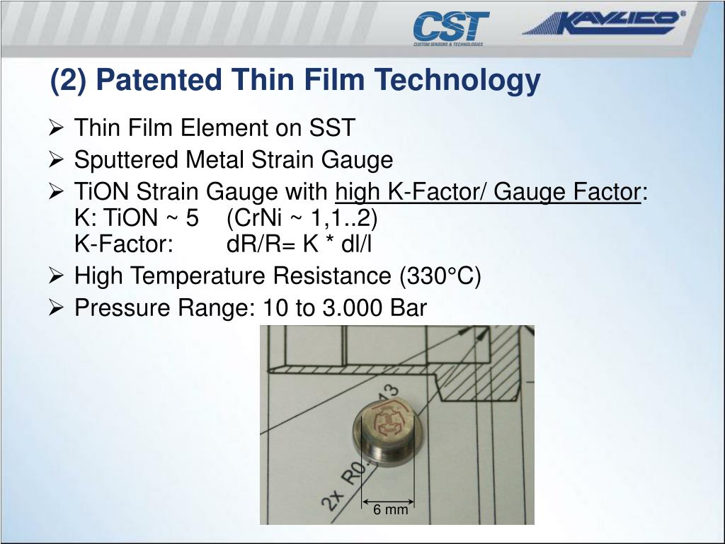 (2) Patented Thin Film Technology