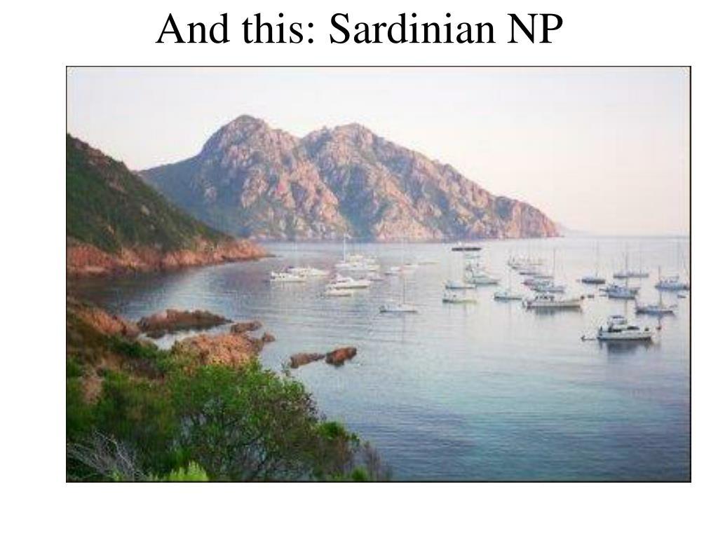 And this: Sardinian NP