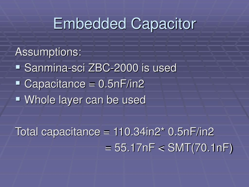 Embedded Capacitor