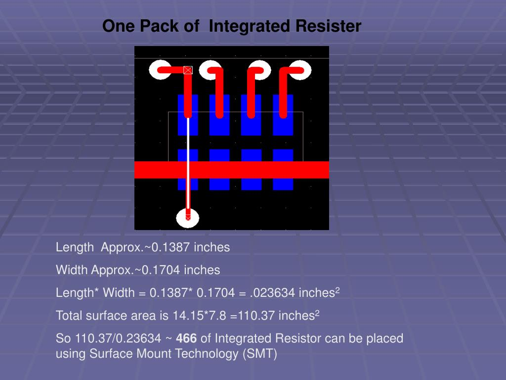 One Pack of  Integrated Resister