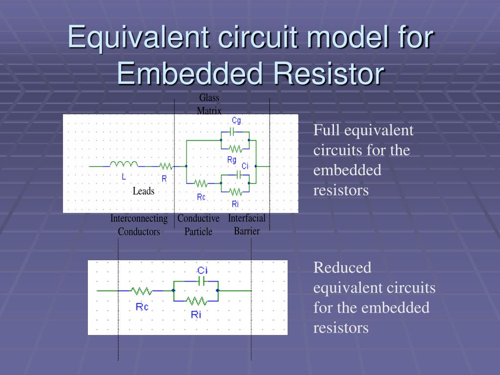 Equivalent circuit model for Embedded Resistor